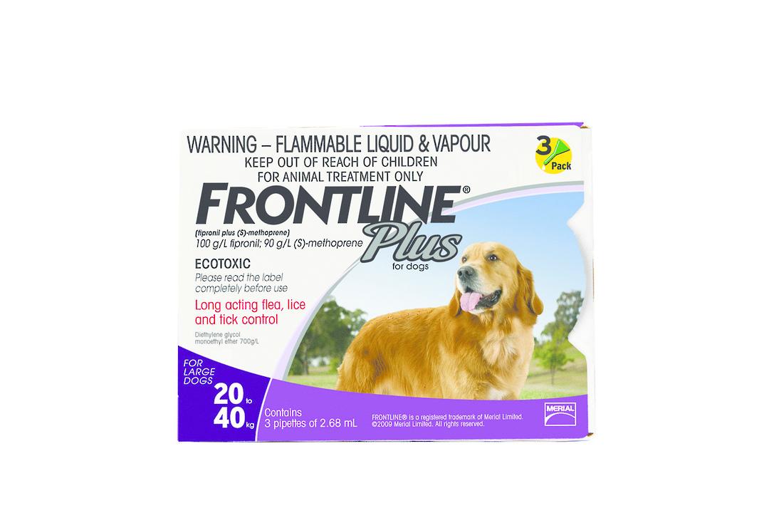 Frontline Spot-on Flea Treatment for Large Dogs (Purple / 2.68ml x 3) image 0