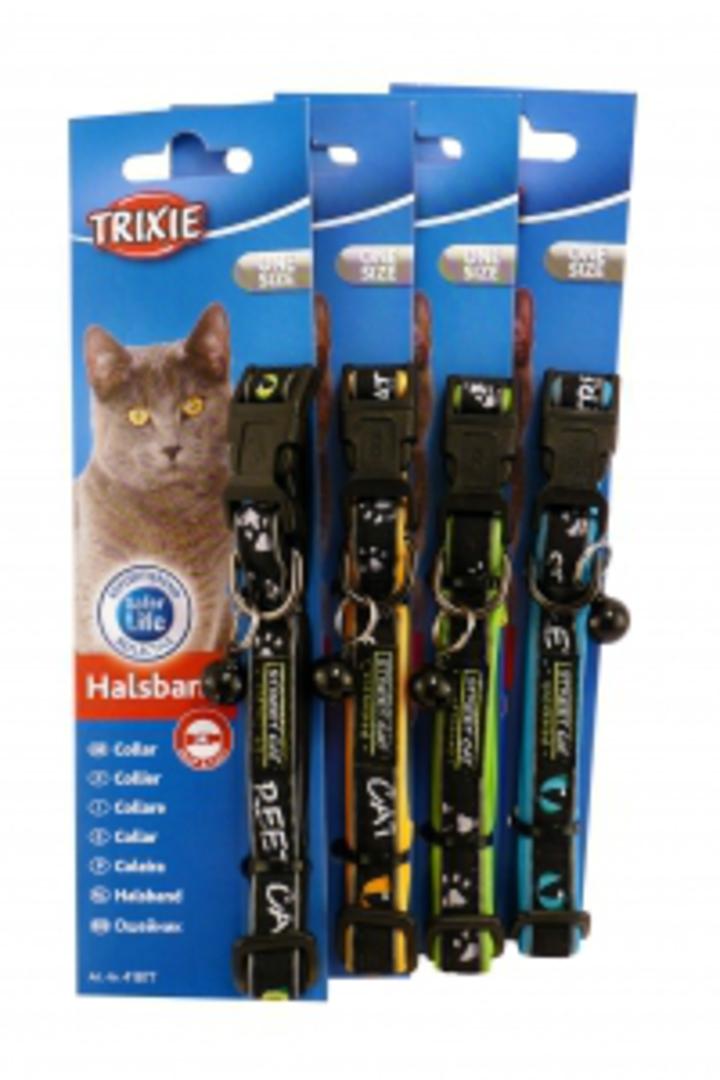 Trixie Cat Collar - Reflective Neoprene (Black, Orange, Green or Blue) image 0