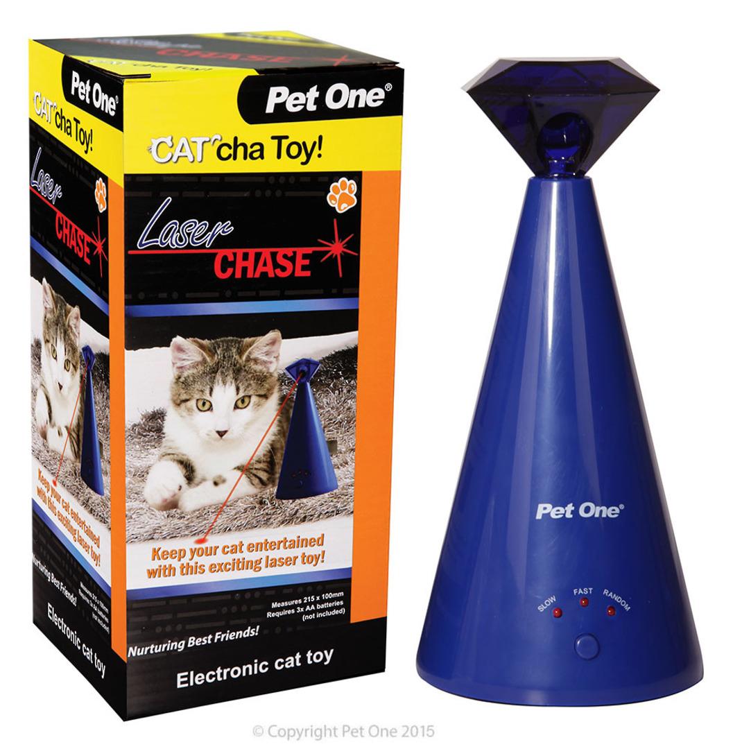Pet One Cat Toy Cat'cha Laser Chase Batt image 0