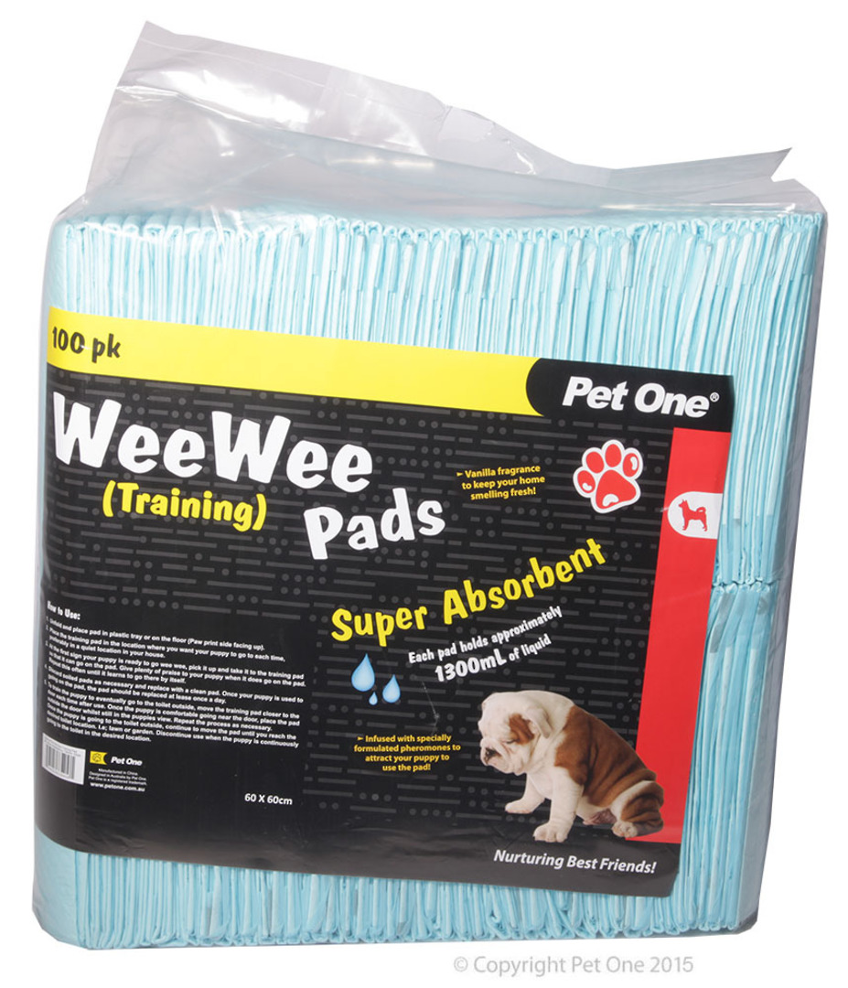 Pet One Wee Wee Training Pads 100pk image 0