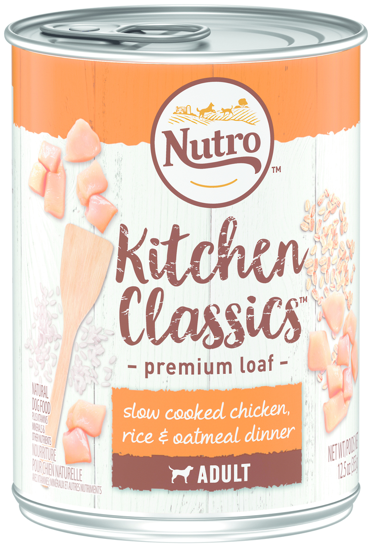 Nutro Adult Dog Slow Cooked Chicken, Brown Rice & Oatmeal Dinner 355g image 0