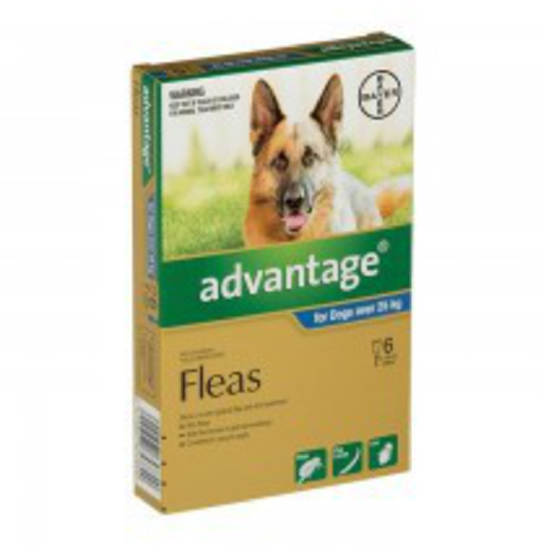Advantage Spot-on Flea Treatment for Large Dogs +25kg (Blue / 6 pippets) image 0