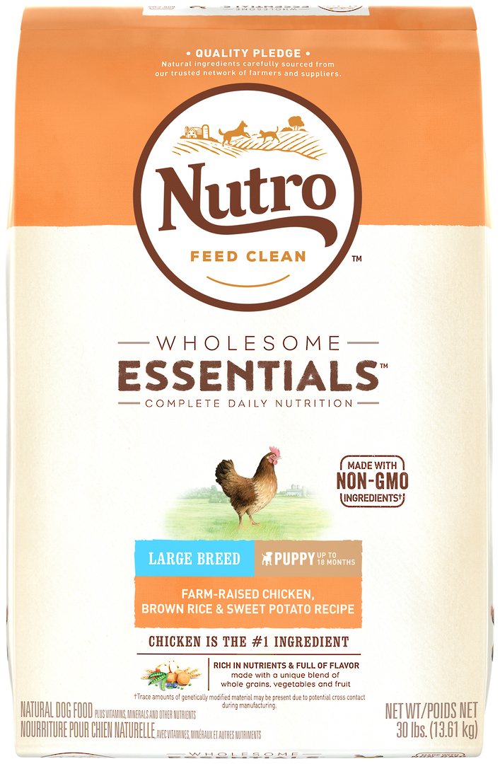 Nutro Wholesome Essential Large Breed Puppy - Chicken, Whole Brown Rice & Sweet Potato Recipe - 13.61kg image 1