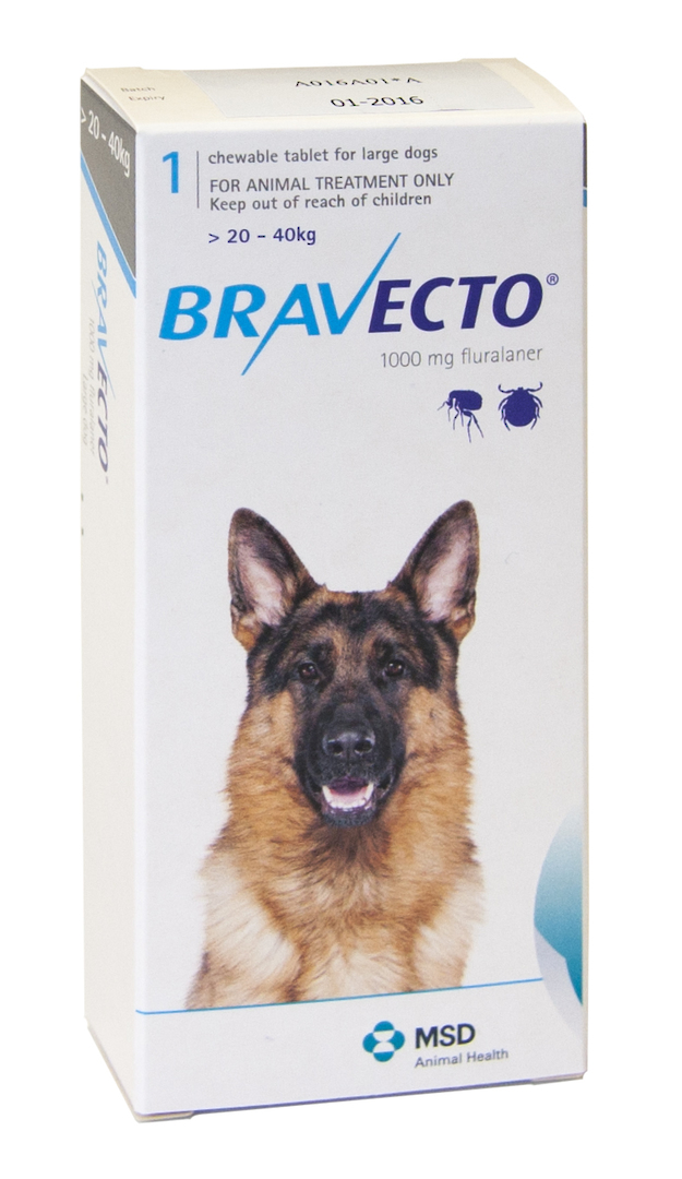 Bravecto  Chewable Flea Treatment for Large Dogs (Blue) image 0