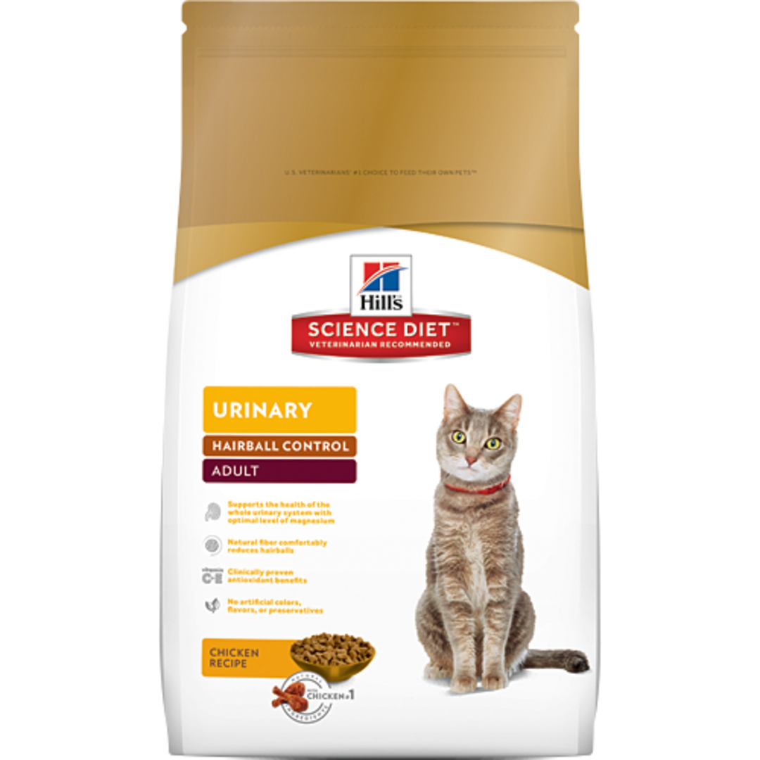 Hill's Science Diet Urinary Hairball Control for Adult Cat 2Kg image 0