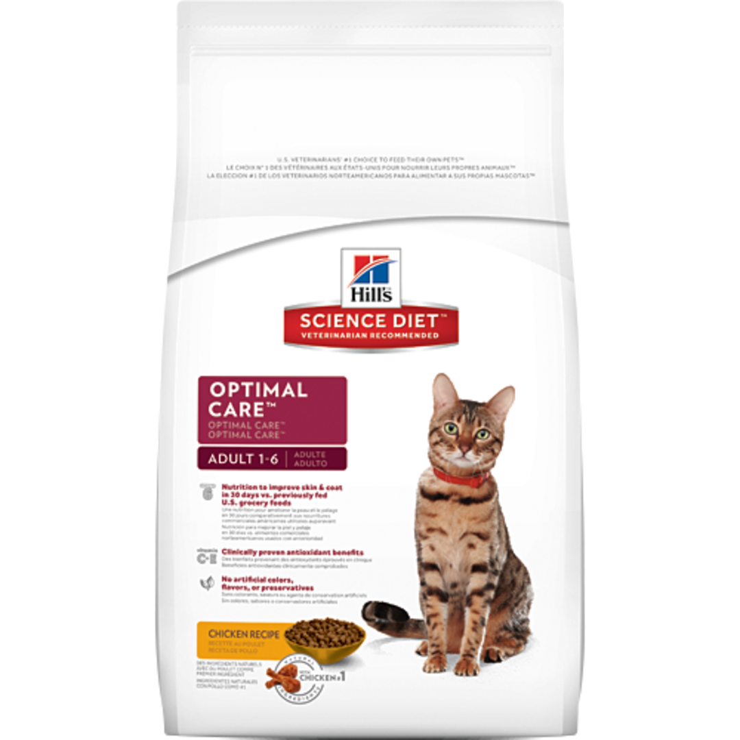 Hill's Science Diet Optimal Care for Adult Cat 10Kg image 0