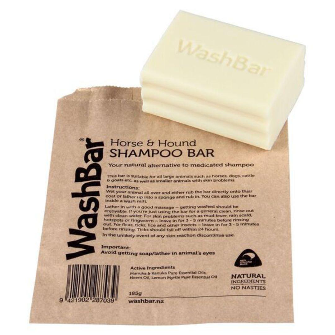 WashBar Horse & Hound Shampoo Bar Soap 185g image 0