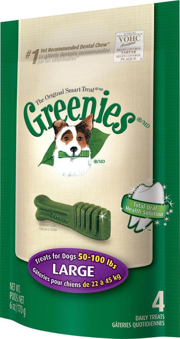 Greenies Canine Mini Treats for Large Dogs 170g / 4 Dental Chews image 0