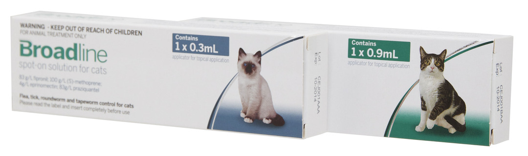 Broadline Spot-on Flea and Worm Treatment for Cats (0.9ml) image 0