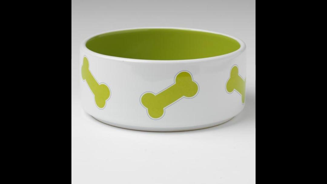 Kool Bones Bowl - Lime/White 15cm image 0