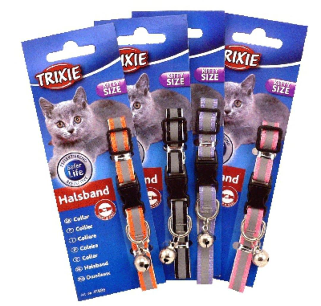Trixie Kitten Collar - Reflective (Orange, Pink, Black or Blue) image 0
