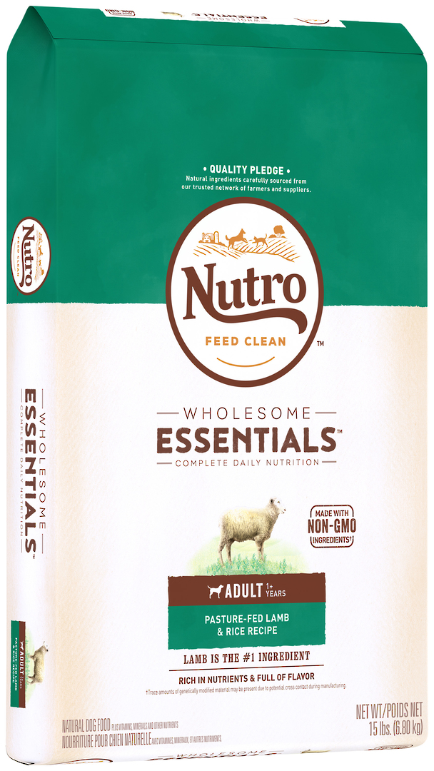 Nutro Wholesome Essential Adult Dog - Lamb & Brown Rice Recipe -6.8kg image 0