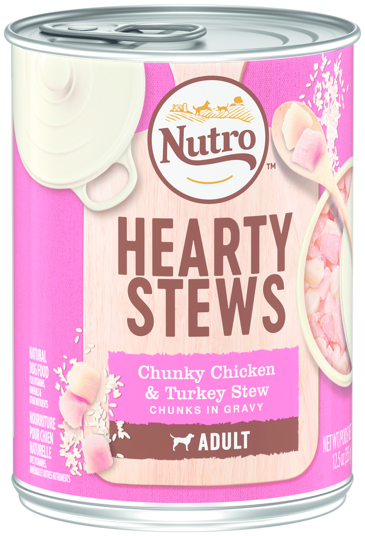 Nutro Large Breed Adult Dog Chunky Chicken & Turkey Stew 355g image 0