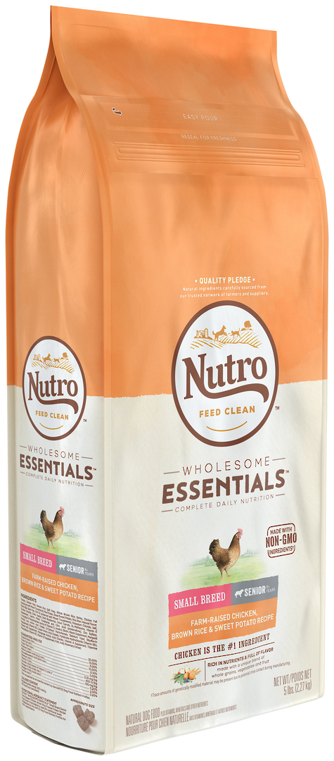 Nutro Wholesome EssentialSmall Breed Senior Dog - Chicken, Whole Brown Rice & Sweet Potato Recipe - 2.27kg image 0