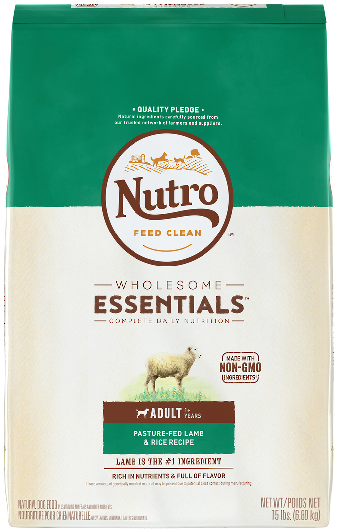 Nutro Wholesome Essential Adult Dog - Lamb & Brown Rice Recipe -6.8kg image 1