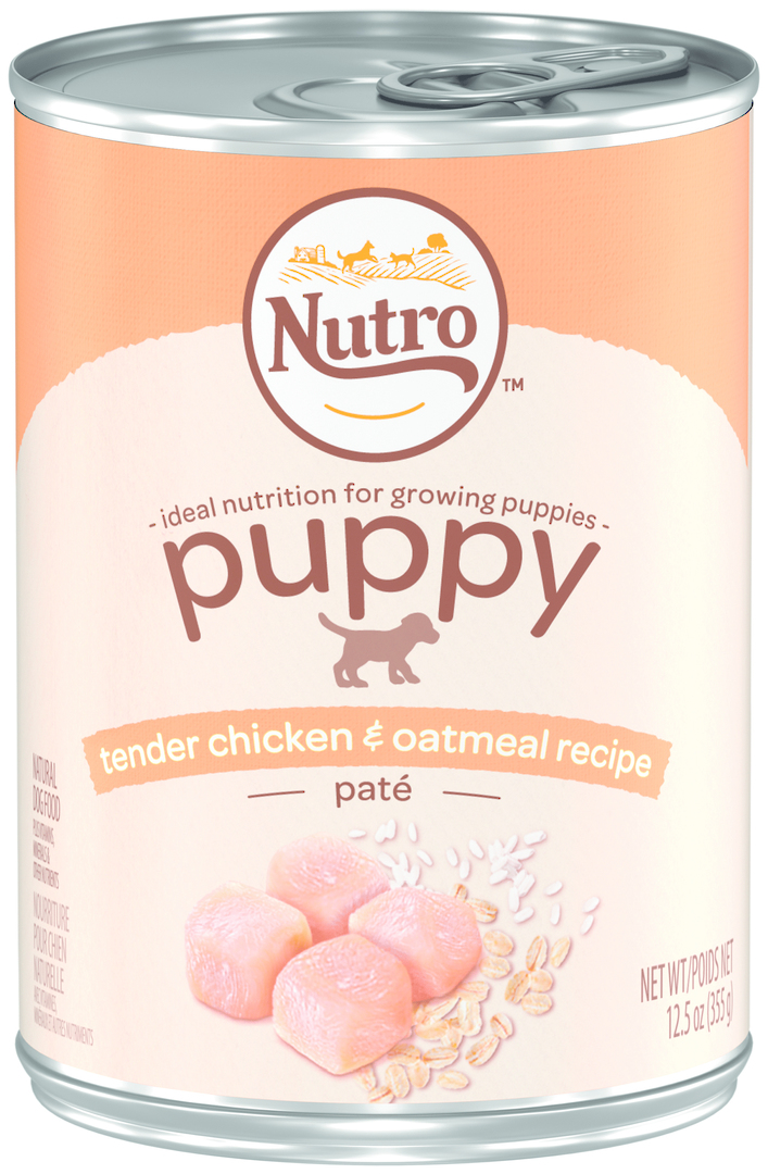 Nutro Puppy Tender Chicken & Oatmeal Pate 355g image 0