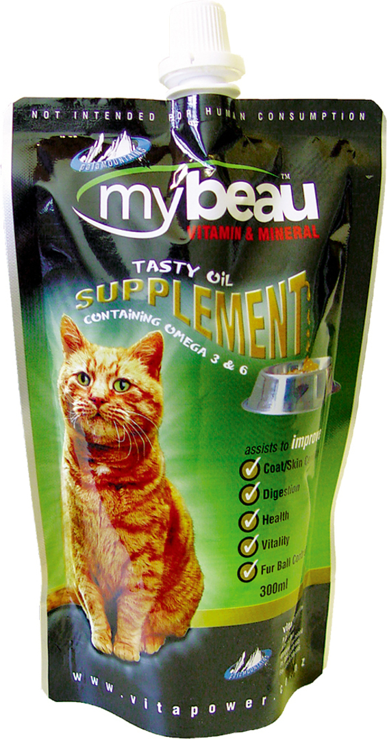 Mybeau Vitamin & Mineral Supplement for Cats 300ml Pouch image 0