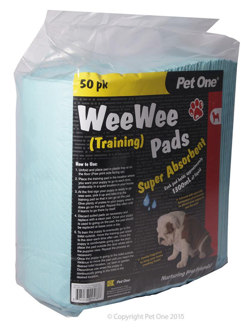 Pet One Wee Wee Training Pads 50pk image 0
