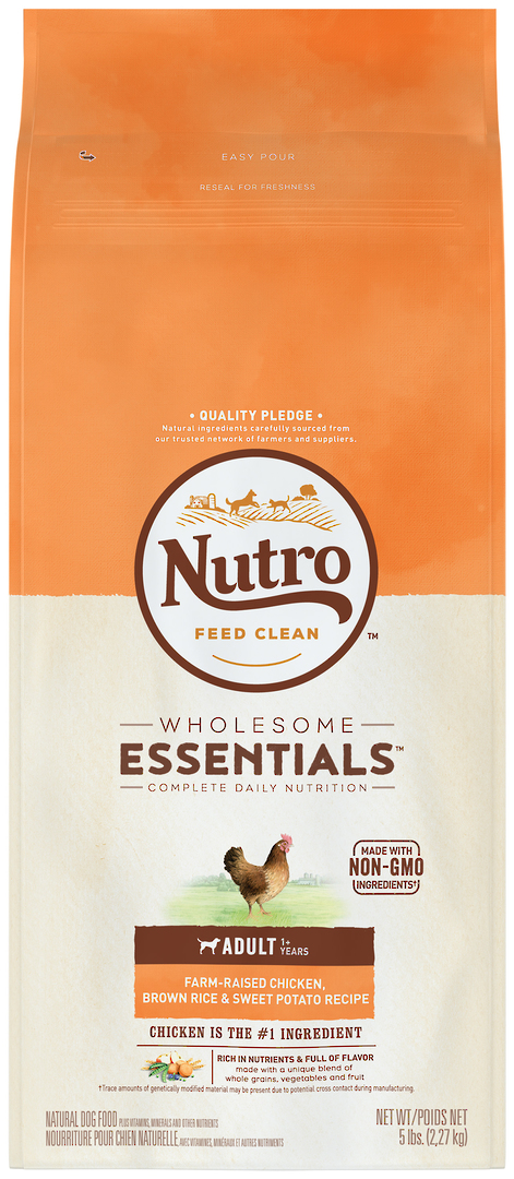 Nutro Wholesome Essential Adult Dog - Chicken, Whole Brown Rice & Sweet Potato Recipe -2.27kg image 1