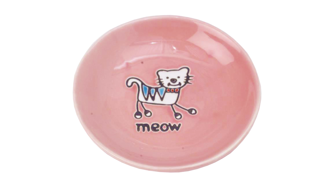 Silly Kitty Saucer - Pink 13cm image 0