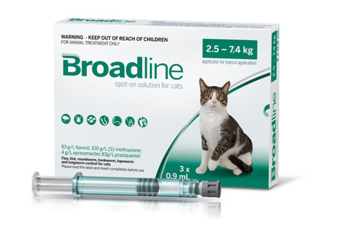 Broadline Spot-on Flea Treatment for Large Cats (3x pack) image 0