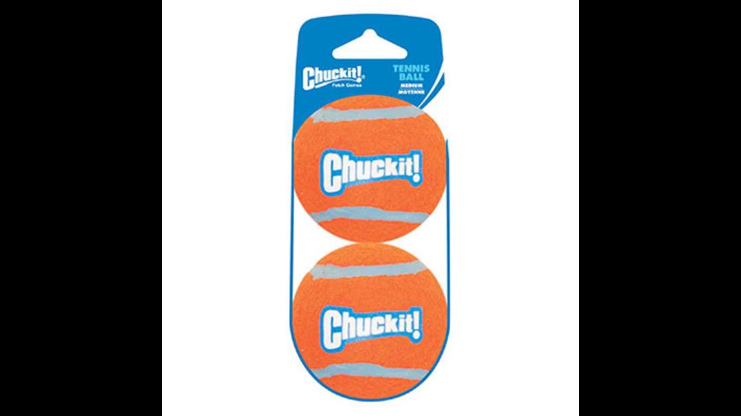 CHUCKIT! Tennis Ball Medium - 2 pack image 0