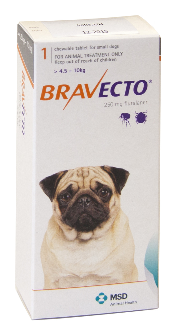 Bravecto  Chewable Flea & Tick Treatment for Small Dogs (Orange 4.5 - 10kg) image 0
