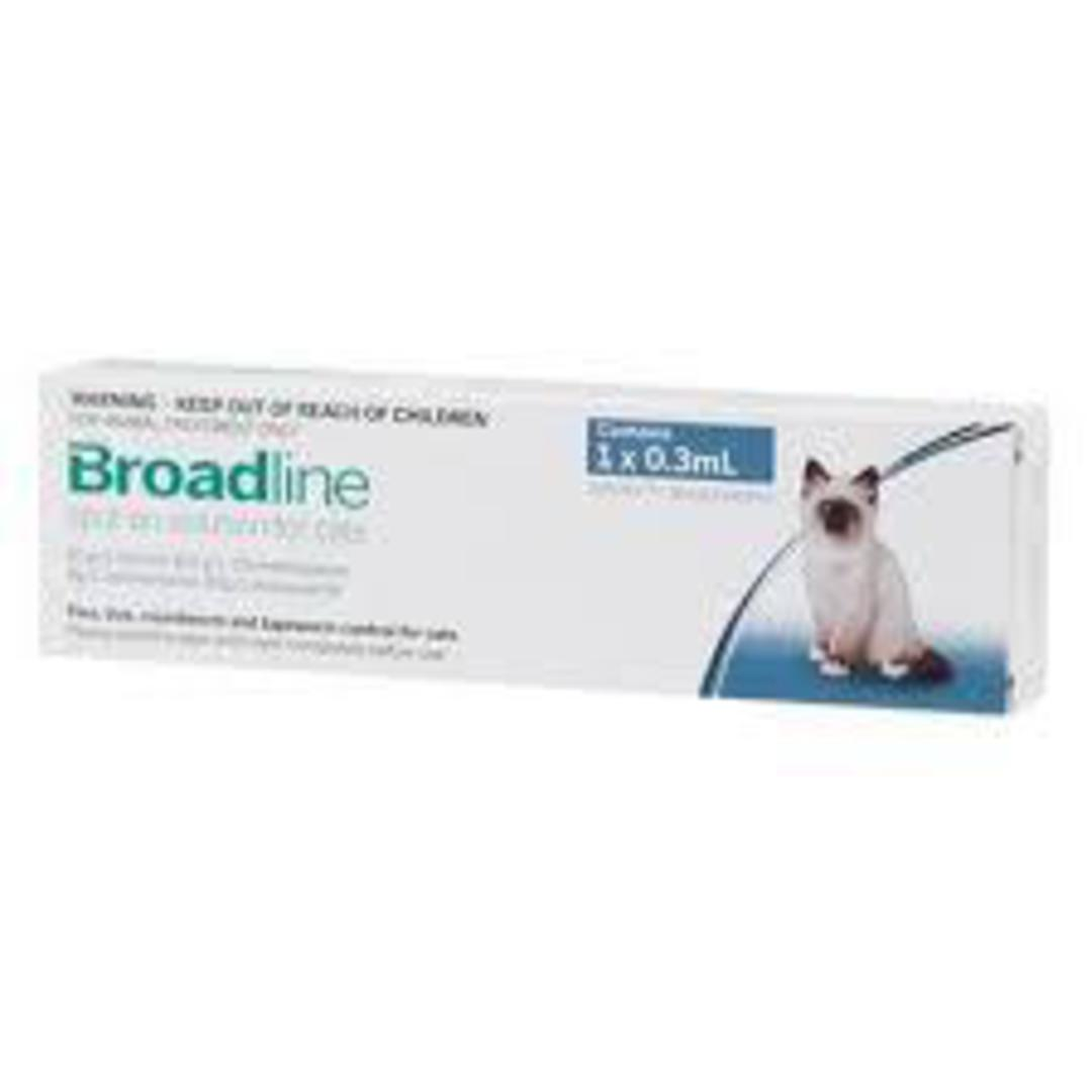 Broadline Spot-on Flea and Worm Treatment for Small Cats and Kittens (0.3ml each) image 0
