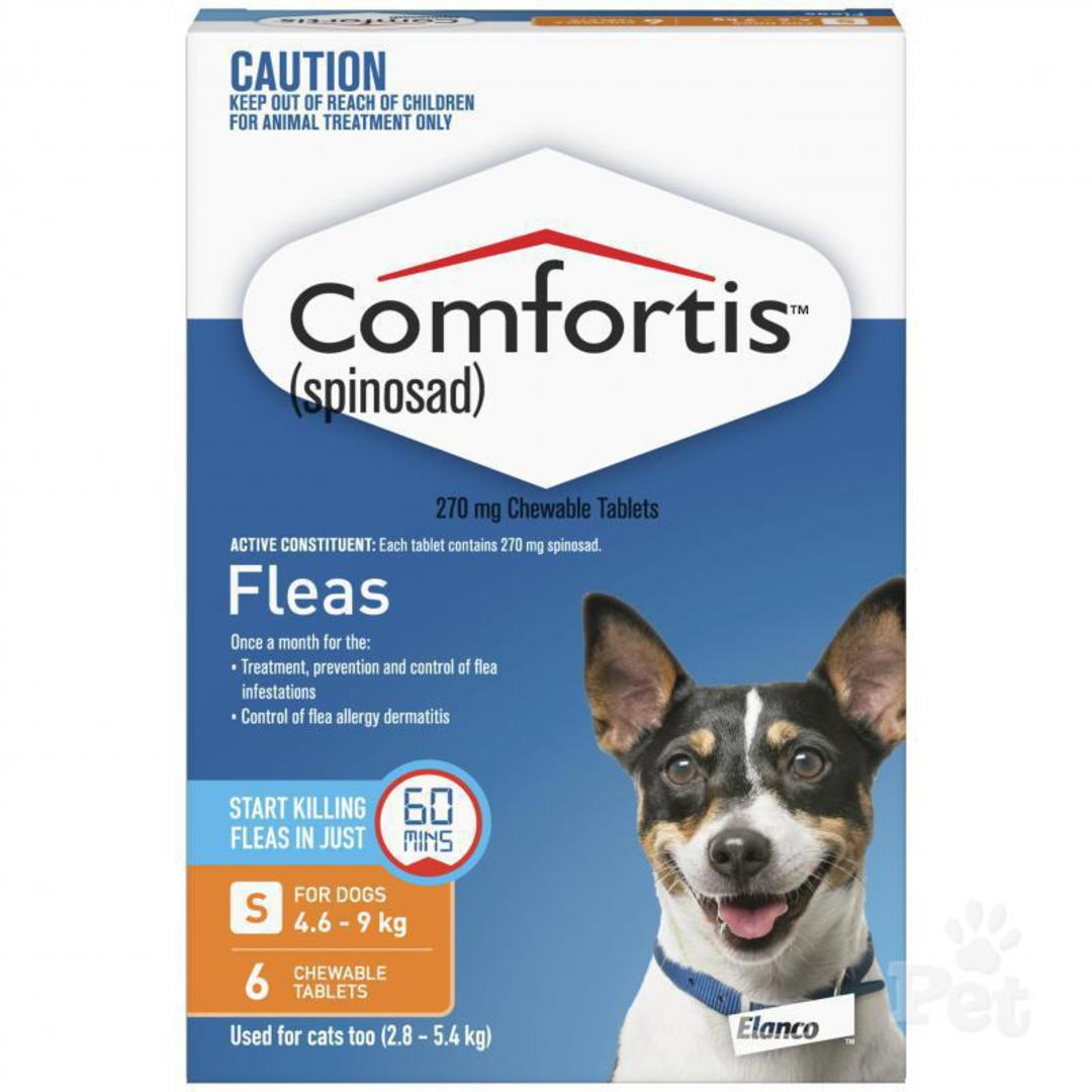 Comfortis Chewable Flea Treatment for Small Dogs & Cats (Orange / 6 chewables) image 0
