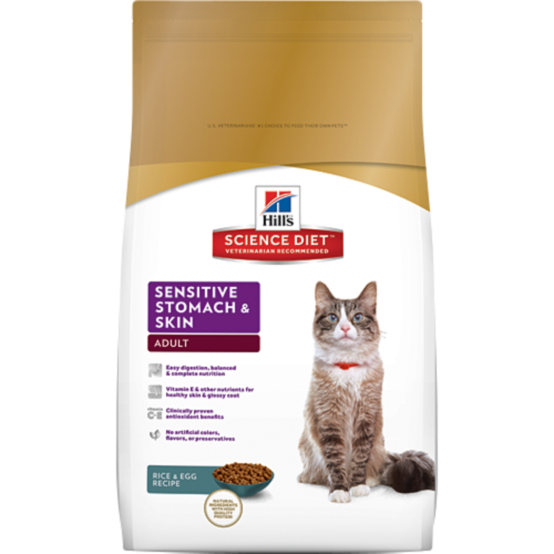 Hill's Science Diet Sensitive Stomach & Skin for Adult Cat 3.17Kg image 0
