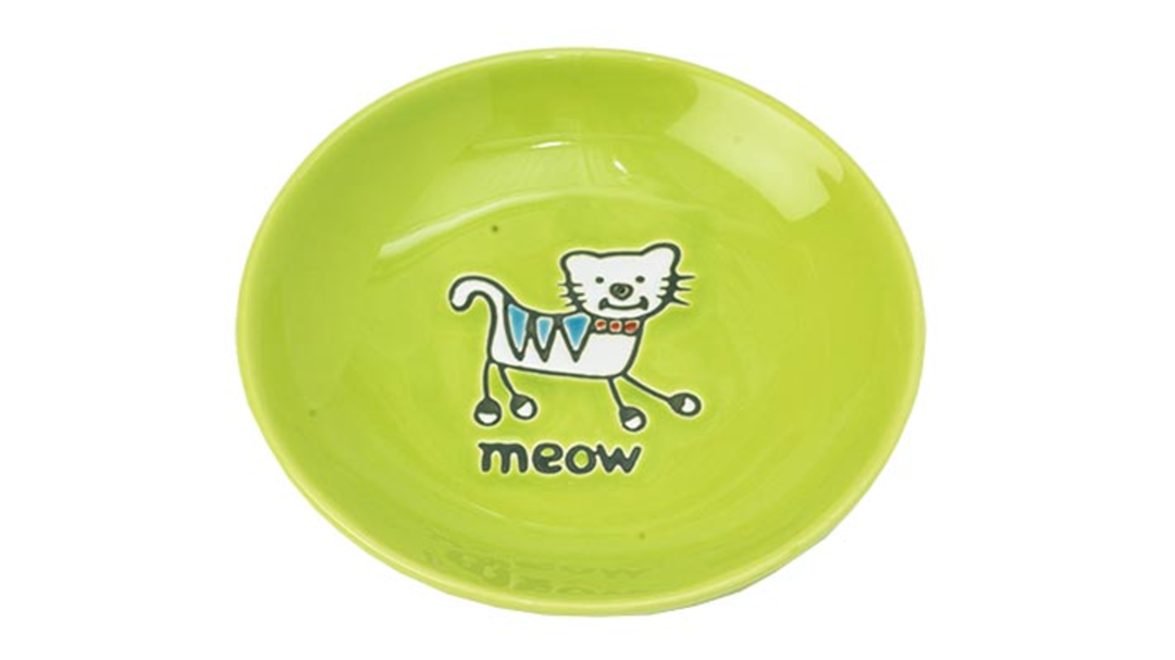 Silly Kitty Saucer - Green13cm image 0