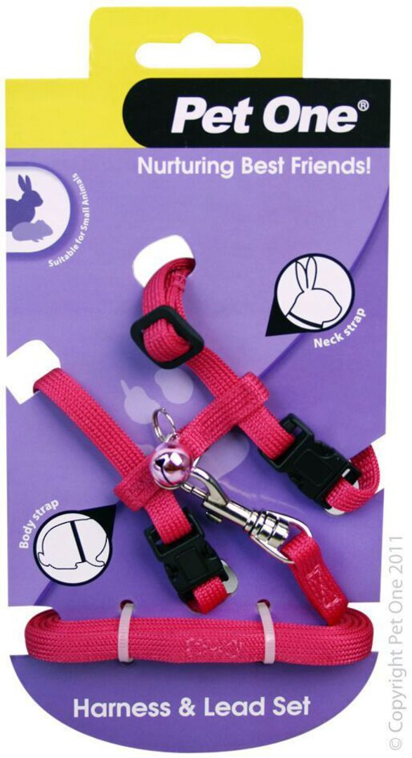 Leash and Harness Rabbit/Guinea Pig Pink image 0
