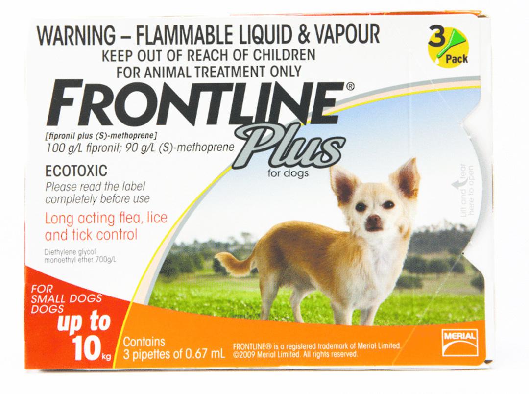 Frontline Spot-on Flea Treatment for Small Dogs (Orange / 0.67ml x 3) image 0