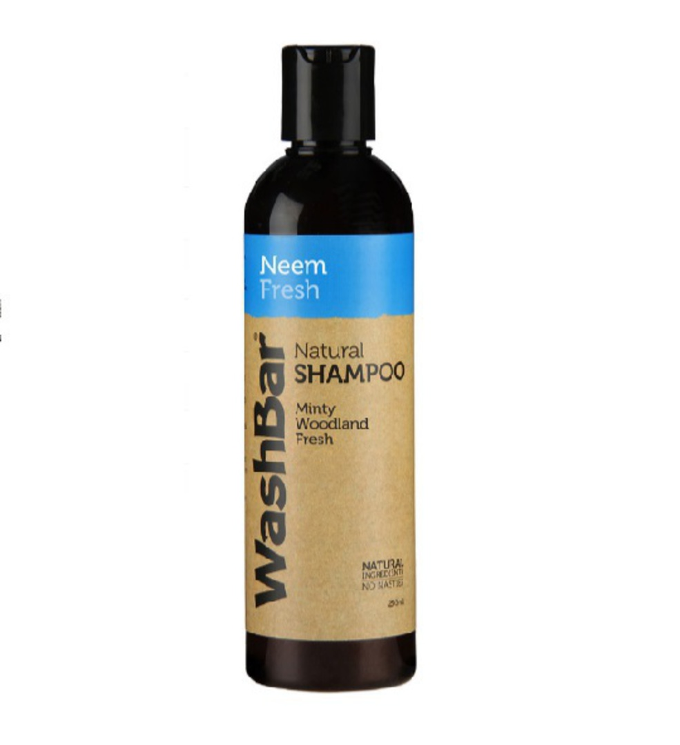 WashBar 100% Natural Shampoo Neem and Fresh 250ml image 0
