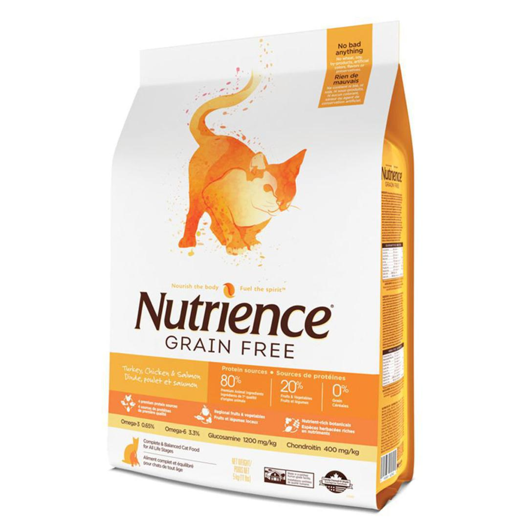 Nutrience Grain Free Turkey, Chicken & Herring - Cat 5kg image 0