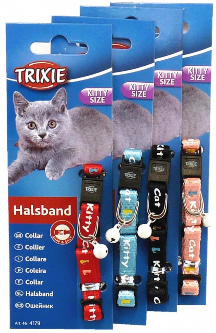 Trixie Kitten Collar - Kitty Cat (Red, Pink, Black or Blue) image 0