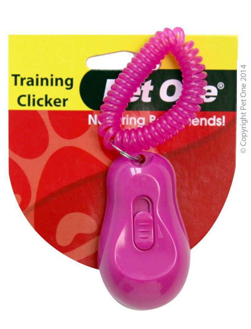 Pet One Training Clicker Pink image 0