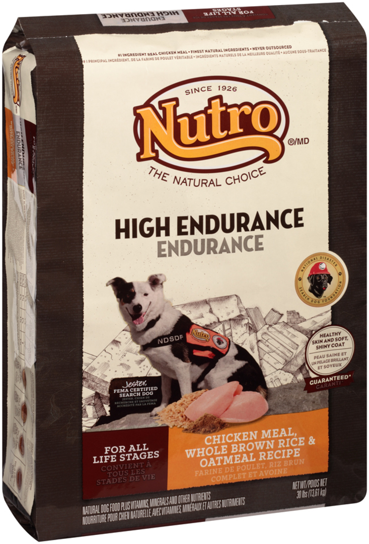 Hight Endurance For All Life Stages / Active Dogs 13.61kg (Chicken Meal, Whole Brown Rice and Oatmeal) image 0