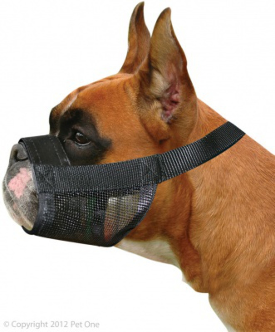 Pet One Adjustable Nylon Muzzle - Boxer Dogs image 0