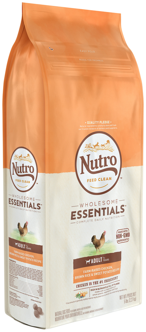 Nutro Wholesome Essential Adult Dog - Chicken, Whole Brown Rice & Sweet Potato Recipe -2.27kg image 0