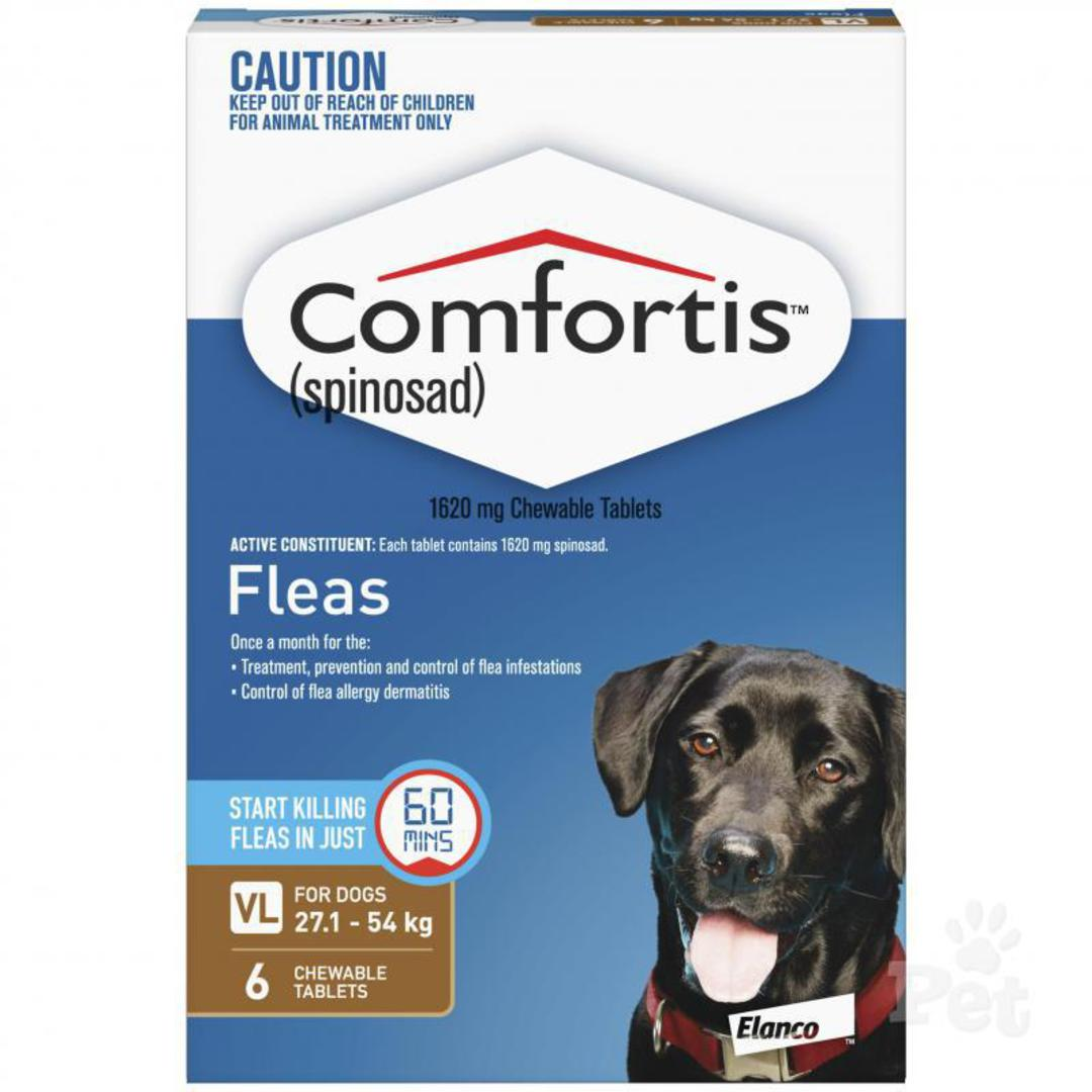 Comfortis Chewable Flea Treatment for Very Large Dogs (Brown / 6 chewables) image 0