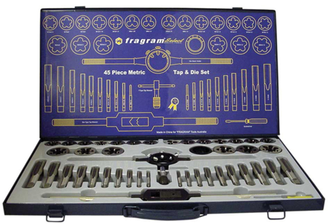 TAP AND DIE SET 45pce SAE image 0