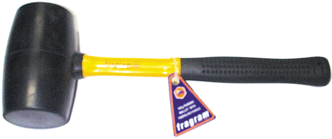 24oz RUBBER MALLET YELLOW F/G HDL image 0