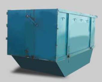 9m cubic rubbish bin image 0