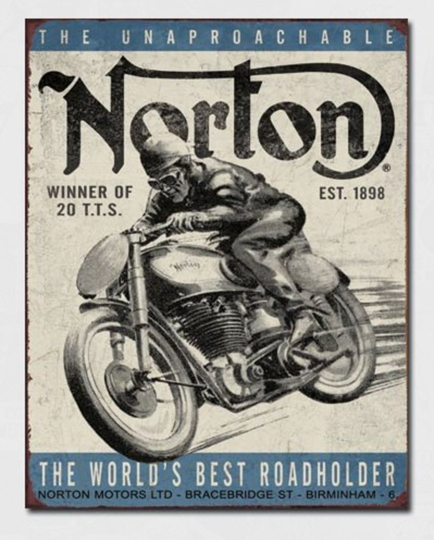 Tin Sign Norton TT Winner image 0