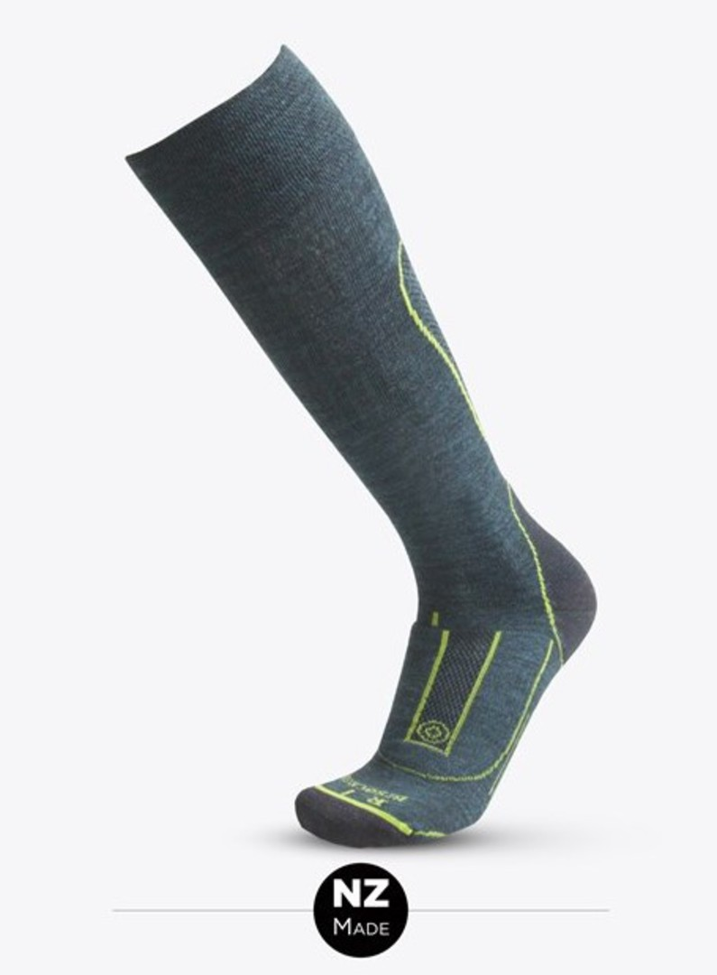 Merino Tec Long Sock Dark Methyl image 0