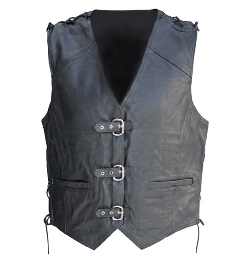 NEO Leather Buckle Vest image 0