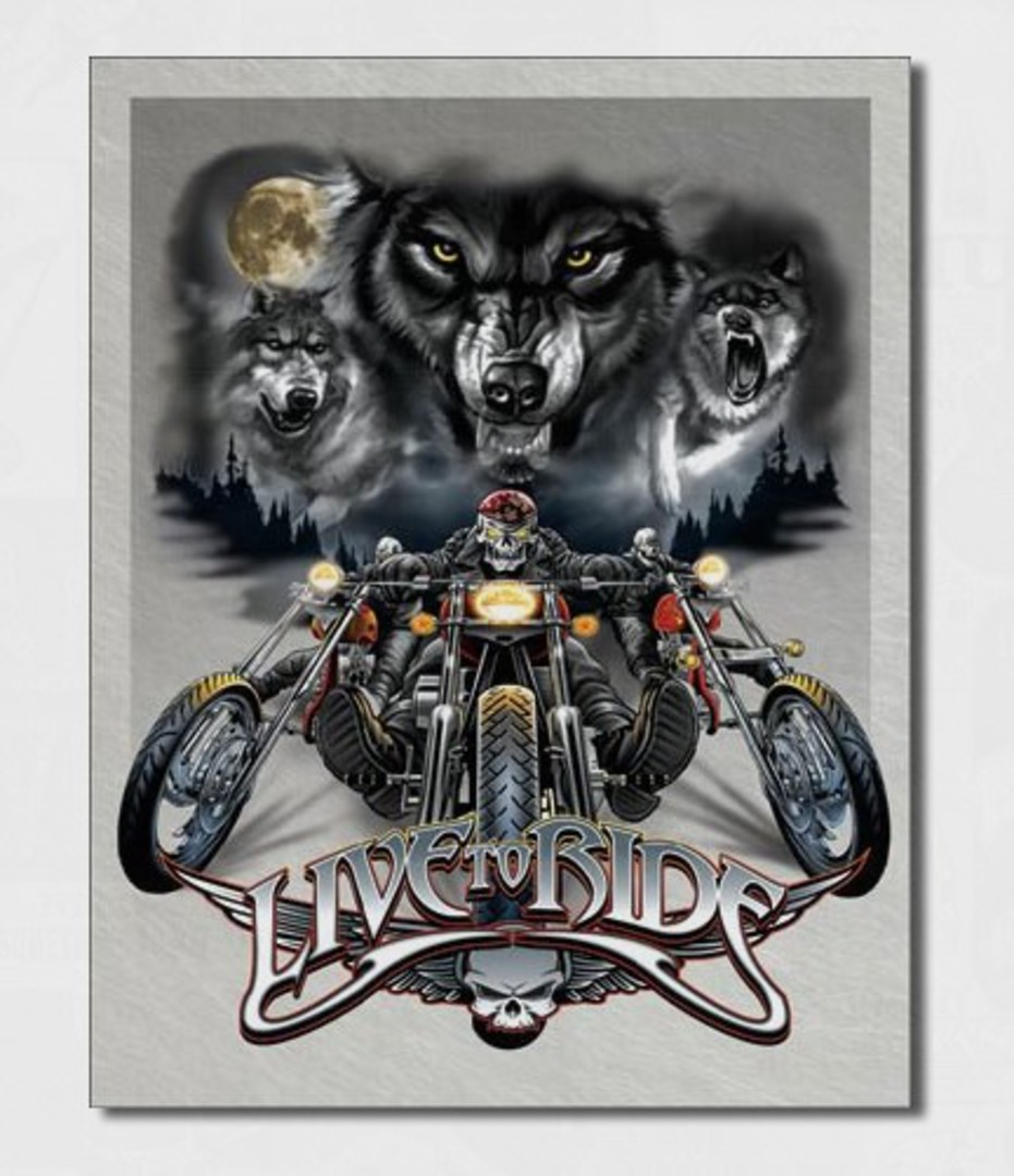 Tin Sign Ride Free Wolves image 0