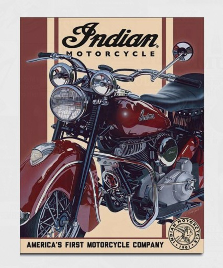 Tin Sign Indian Chief Red image 0