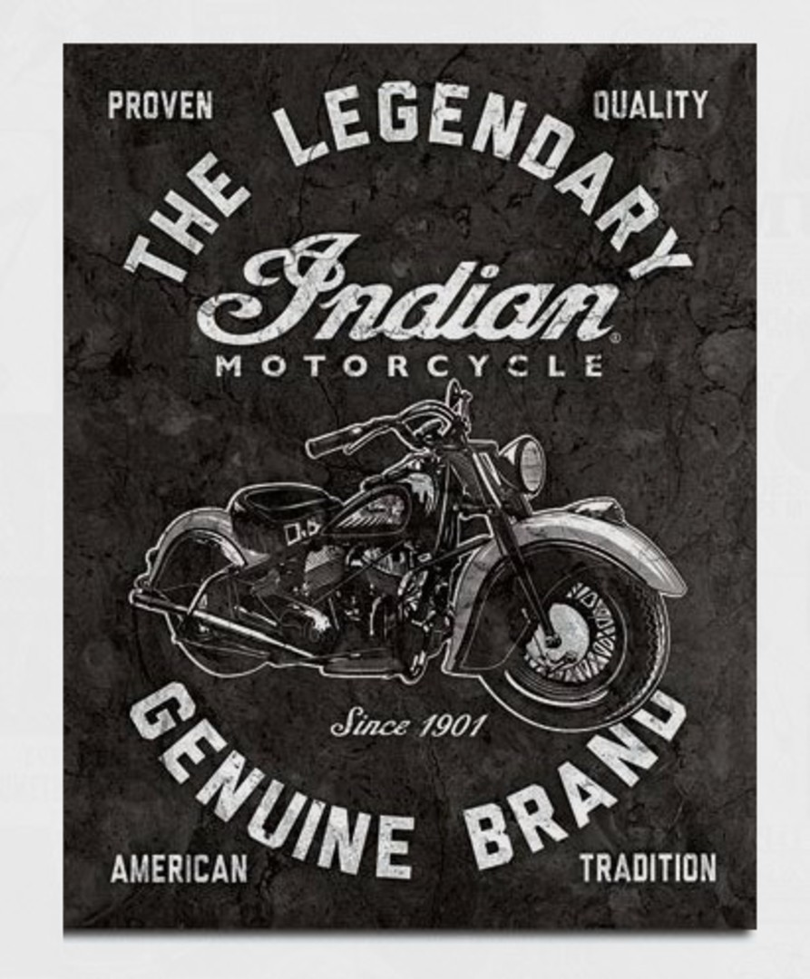 Tin Sign Indian Legendary image 0